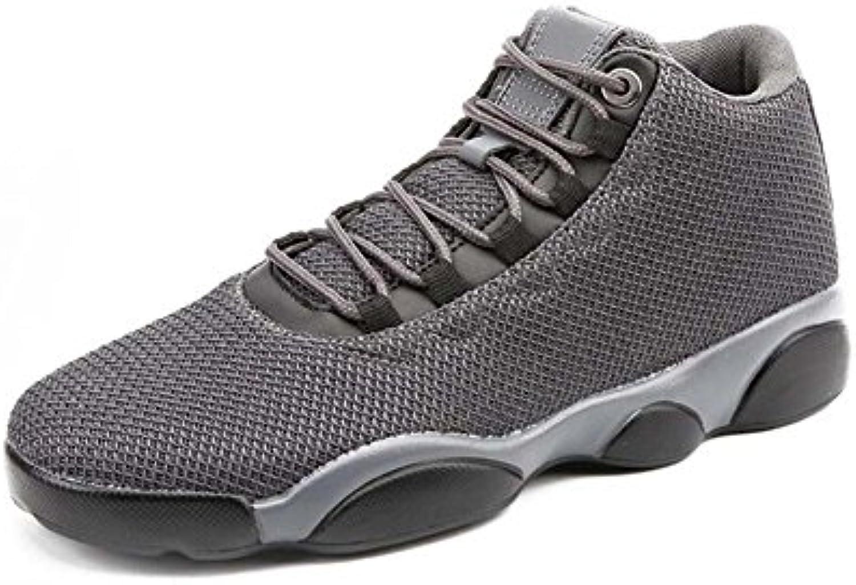 Hombres Mid Snekers Zapatos De Baloncesto De Gran Tamaño con Cordones De Malla Transpirable Zapatos Deportivos  -