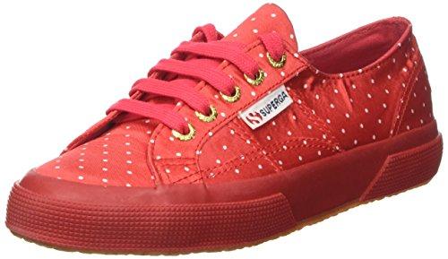Superga 2750-Dotssatinw, Sneaker a Collo Basso Donna Rosso (Red/Dots White)