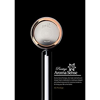 Aroma Sense Prestige: Aromatherapy Vitamin C Shower Head with Lemon fragrance, Chlorine Free, Ceramic Ball & Fabric Filters.