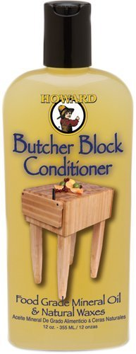 Howard BBC012 Butcher Block Conditioner, 12-Ounce by Howard Products