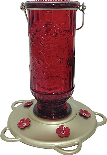 Classic Brands Red Vintage Hummingbird Feeder -