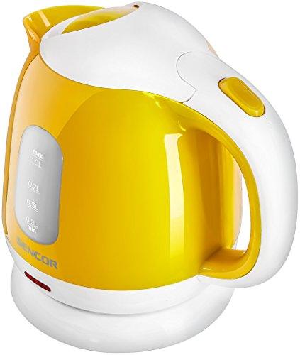 SENCOR SWK 1016Y - Bollitore con filtro rimovibile, 1 l, giallo, 1 litro
