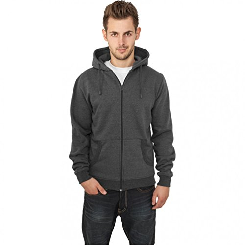 Relaxed Zip Hoody Red