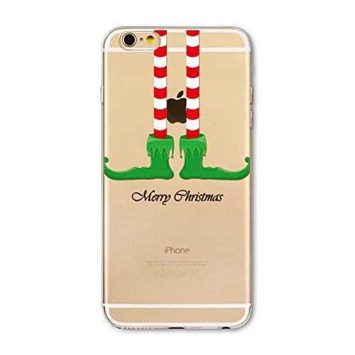 iPhone 6 Plus / iPhone 6s Plus Hülle, FindaGift Weihnachten Serie Ultra dünn Stoßfest Weiches TPU Telefon zurück Kasten Deckung Schutz Shockproof Case per iPhone 6 Plus / iPhone 6s Plus (Green Boots) Green Boots