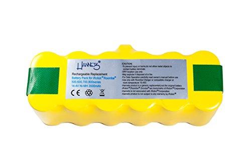 Batterie APS 3500 mAh iRobot Roomba de Hannets® pour Série 500, Série 600, Série 700, Série 800