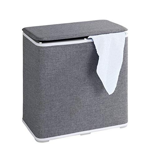 Wenko 62010100 Wäschetruhe Galdino Wäschesammler, Fassungsvermögen 65 L, 49 x 50 x 27 cm, grau - 2