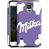 Handy Case Hülle Cover für Samsung Galaxy S5 ToughCase white/black - Milka