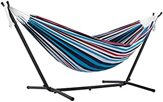 DOUBLE COTTON HAMMOCK WITH STAND (250 CM) - DENIM