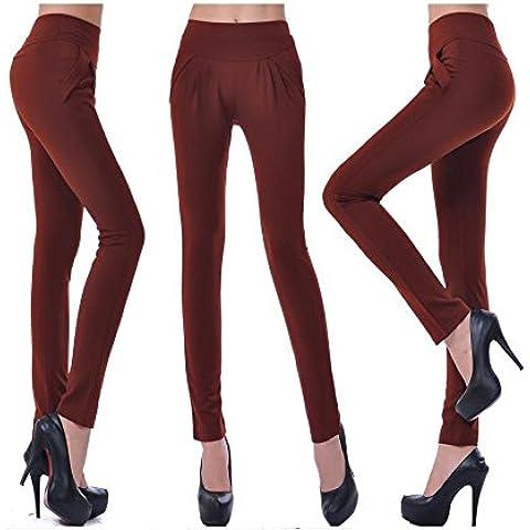 Maschio taglia grande Harlan pantaloni piedi matita pantaloni multi-color rendering di base , brown red , xxl