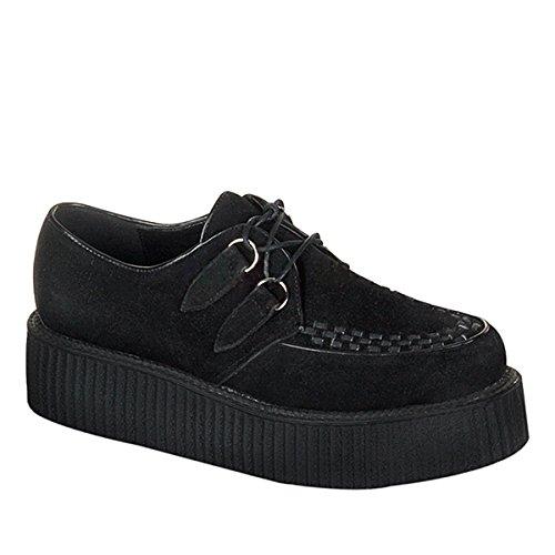 Demonia Creeper-402S Wildleder Herren Sneakers schwarz Schwarz