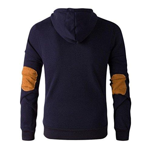 Tonsee® Automne Et même le capuchon de pull d'hiver Hommes Marine