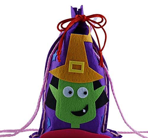 CR#ST Halloween-Süßigkeitstasche-Zugschnur-Kinder Trick-Leckerei-Taschen Halloween-Nette Süßigkeits-Tasche, die Kinder Partei-Aufbewahrungsbeutel-Geschenk Verpackt 10 Sätze Sorcerer