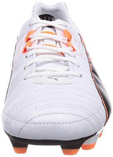 Puma Spirit II Fg, Chaussures de football homme Blanc (White/Blk/Fluo Orange 02)