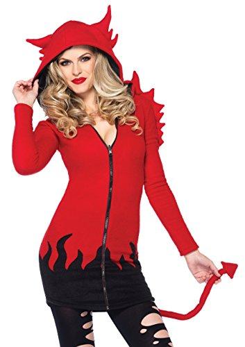 Leg Avenue 85310 - Cozy Devil Kostüm, Größe L, - Gemütliche Teufel Kostüm