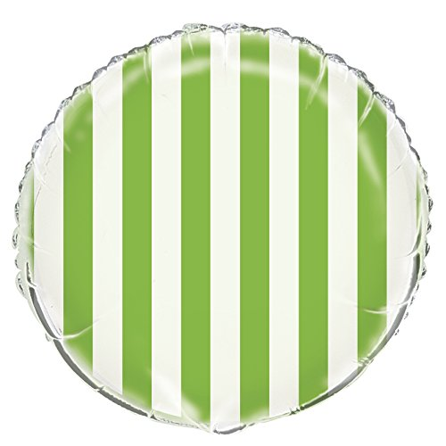 Partito Unico 18-Inch Foil Striped Palloncino a elio (Lime Green)