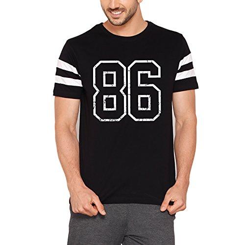 Bewakoof Mens Cotton T-Shirt_Jet Black-White_XL