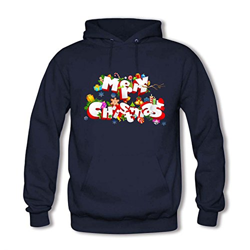 Women's Long Sleeve Merry Christmas Hoodie Sweatshirt Hooded Pullover B