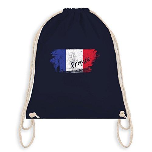 Fußball-Weltmeisterschaft 2018 Kinder - Frankreich Vintage - Unisize - Navy Blau - WM110 - Turnbeutel I Gym Bag