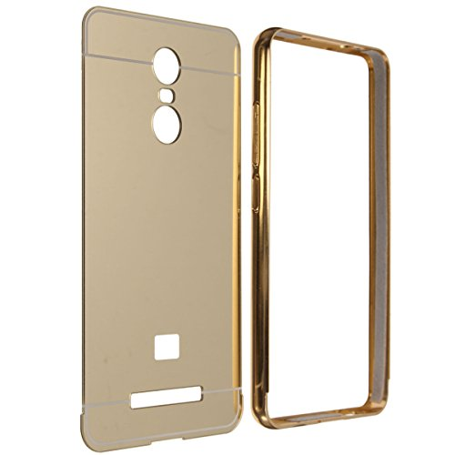 4f339544c1 36% OFF on Redmi Note 4 Back Cover, Johra Gold Golden Acrylic Mirror Back  Cover Case with Bumper Case for Redmi Note 4 Mirror Back Cover on Amazon ...