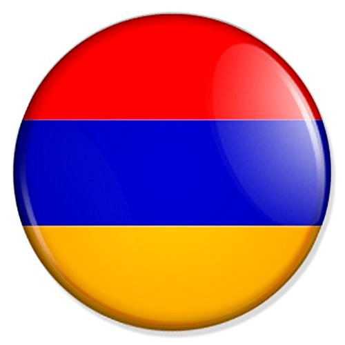 Armenien Flagge Button mit 59 mm Durchmesser - Badge Anstecker Anstecknadel Ansteckpin