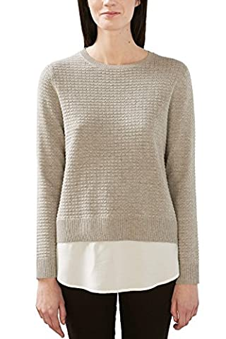 ESPRIT Damen Pullover 017EE1I008 Grau (Light Grey 5 044), 40