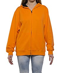 Clifton Womens Sweat Shirt With Hood-Bright Orange-L