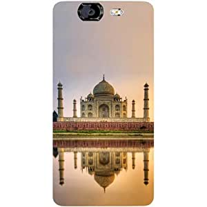 Casotec Taj Mahal Design Hard Back Case Cover for Micromax Canvas Knight A350