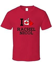 I Love Rachel Nicol Canada Swimming 100 M Breaststroke Olympics T Shirt XXXX-L