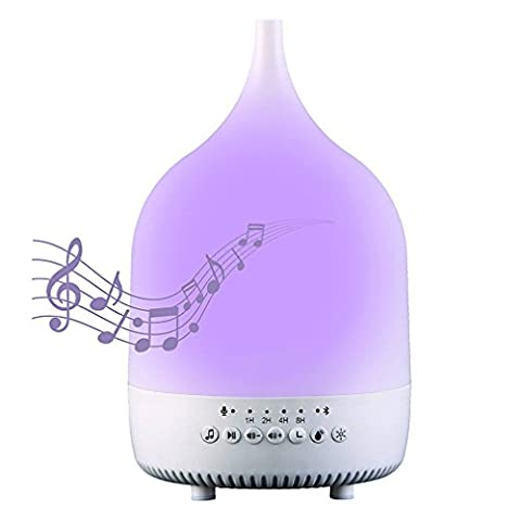 T&B Sound Soothing Noise Essential Aroma Oil Diffuser, Color Changing
