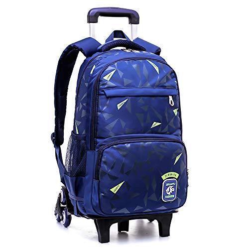 Trolley Schultaschen Wheeled Bag - Belegao Kinder Removable Rolling Schoolbag 6 Räder Wasserdichte Große Kapazität Student Rucksack für Jungen Mädchen Teenager Schule Reise Outdoor
