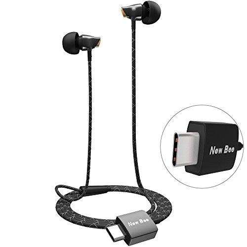 aceyoon Noise Cancelling Headphones USB C Stéréo Casque Intra Auriculaire Écouteur Type C in Ear Audio HQ Compatible Huawei Mate 10 Moto Z XiaoMi HTC - Noir
