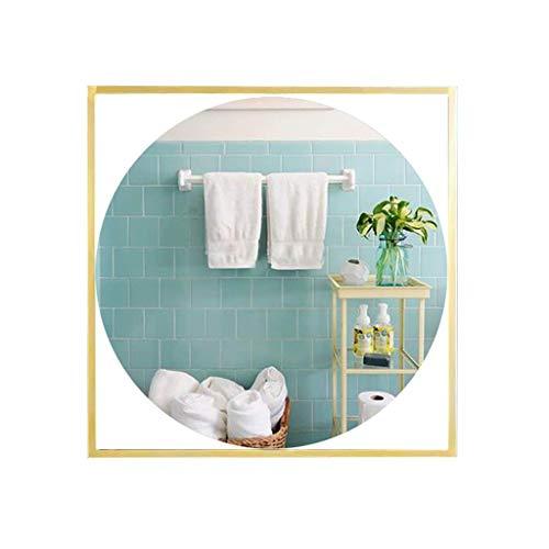 lquide Eitelkeit Schlafzimmer Badezimmer Eitelkeit runden Spiegel, Gold Quadrat Eisen Wand kreative kreative dekorative Wand des Eingangs Spiegel an der Wand