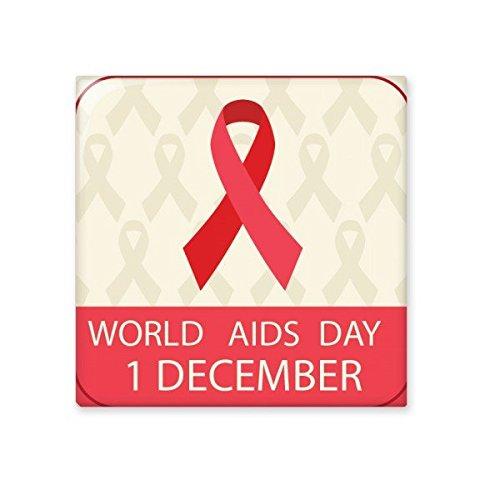 DIYthinker Solidarität Symbol Red Ribbon 1. Dezember Welt-AIDS-Tag HIV-Bewusstsein Keramik Bisque Fliesen für Dekorieren Badezimmer-Dekor Küche Keramische Fliesen Wandfliesen L - Badezimmer Aids