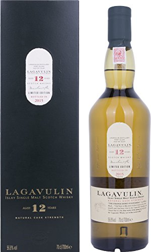 Lagavulin Single Malt 12 Years Old Natural Cask Strength Limited Edition 2015 + GB 56,8% Vol. 0,7 l