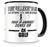 Samunshi Ich denke an Golf Tasse Kaffeetasse Teetasse Kaffeepott Kaffeebecher Becher