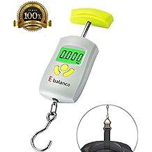 happyle - Báscula de Pesca electrónica con Gancho de 50 kg con función de sujeción y