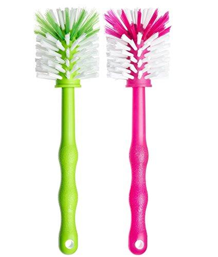 Deine Bürste 2er Set Mixtopf Spülbürste - Reinigungsbürste perfekt zum Reinigen von z.B. Thermomix ® TM5, TM31, TM 21 - Zubehör je (1x Grün/ 1x Pink)