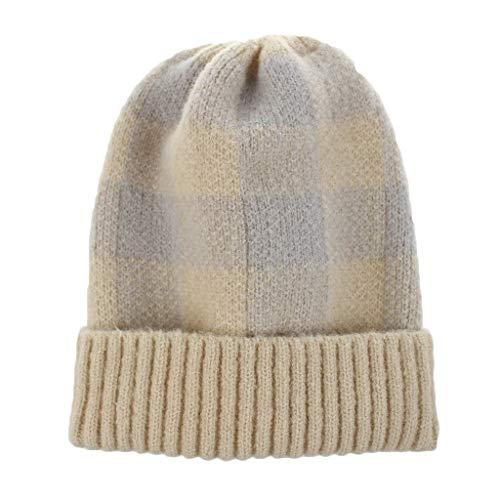 Poamen Haarbänder für Damen, 10 Stück, Vintage, elastisch, für Sport, warm, gestrickt, süßes Haaraccessoires Gr. 90, beige -