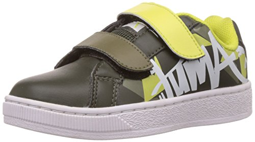 Puma Unisex James Cat II DP Grey Kids Sneakers – 11 UK 41v9yd5TfGL