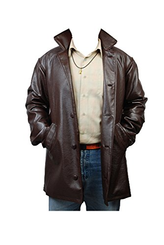 Kostüm Cosplay Castiel - Supernatural Dean Winchester Pleather Jacke Coat Cosplay Kostüm Herren M