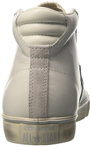Converse Pro Leather Mid Star, Sneaker a Collo Alto Uomo Bianco (Star White/Mouse/Turtledove)