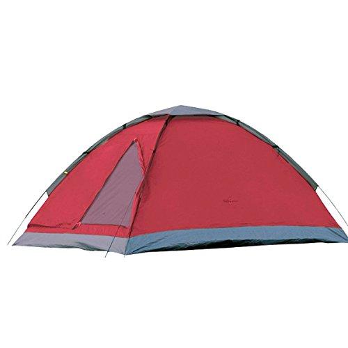 Camp Active Dome Zelt für 2 Personen ca. 185x120x100 cm (LxBxH) - Kuppelzelt in Rot