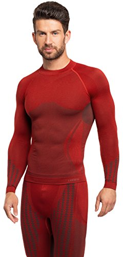 Ladeheid Herren Funktionsunterwäsche langarm Shirt thermoaktiv 50u10 Rot