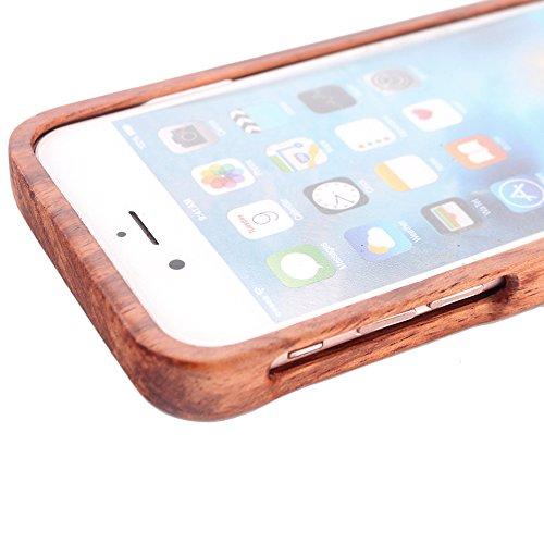 Forepin® Coque iPhone 5S/ 5/ SE Anti Choc Case en Bois Naturel Réel Etui Couvert et Housse en Wood Dur dans Motif de Sculpté Protecteur Tribu