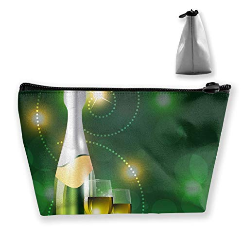 Vector Beer Bottle Women Cosmetic Bags Multifunktions-Kulturbeutel Organizer Travel Wash Lagerung (Trapez) - Duck Daisy Make-up Tasche