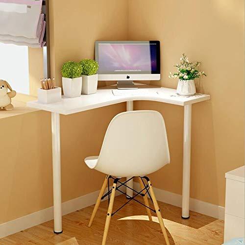 Laptopständer DD Holzfarbe Beistelltisch Für Wohnzimmer, Kleiner Couchtisch, Kidney Bean Form W / 3 Beine, Retro-Design, Vintage -Werkbank (Farbe : Weiß)