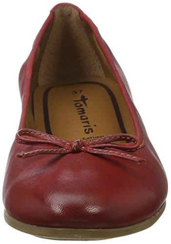 Tamaris Damen 22116 Geschlossene Ballerinas Rot (CHILI 533)