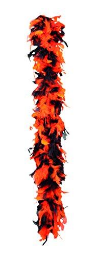 Boland 52657 - Federboa orange und schwarz, 180 cm