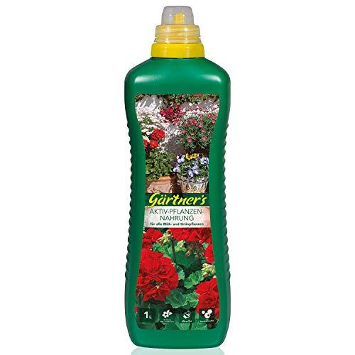 Gärtner\'s Aktiv-Pflanzennahrung 1 Liter I NPK Dünger für Blühpflanzen & Grünpflanzen I Für Zimmerpflanzen, Balkonpflanzen & Gartenpflanzen geeignet