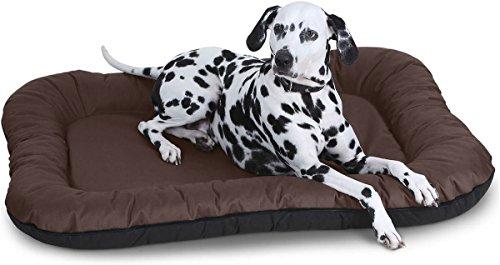 Knuffelwuff Hundebett Lucky In und Outdoor Hundekissen Hundesofa Hundekörbchen Hundekorb, Übergröße XXXL Braun -